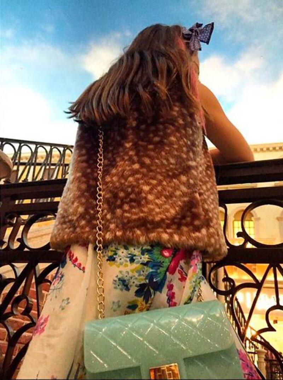Thalía presumió el gusto de su hija por la moda.