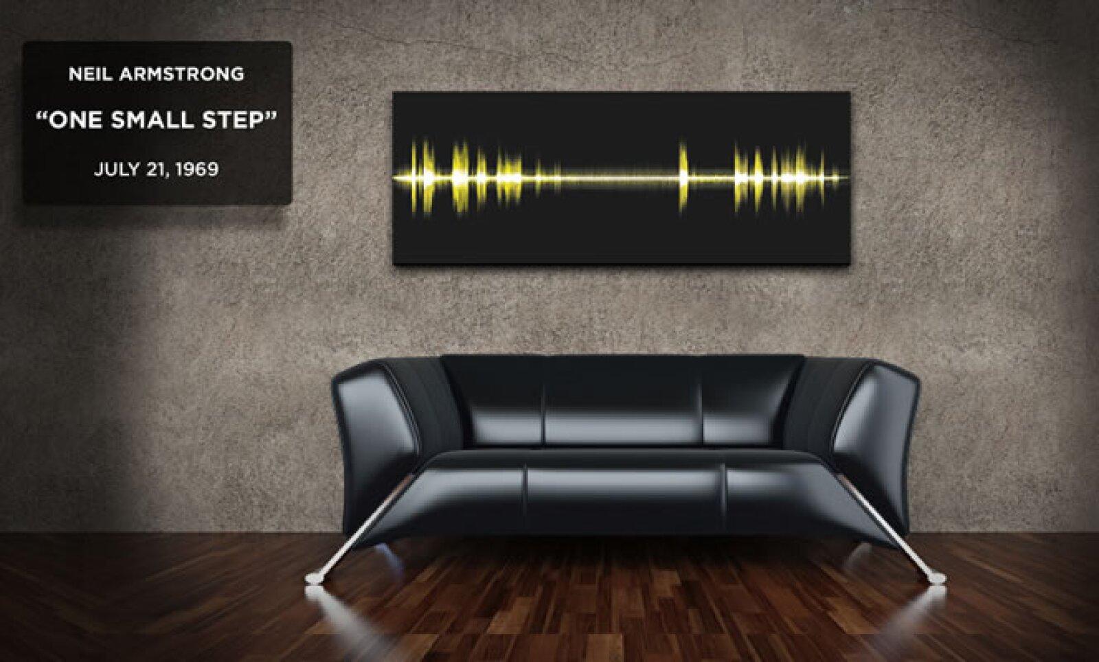 La compañía Epic Frequency captura la frecuencia de discursos famosos y los imprime en pequeñas pinturas.