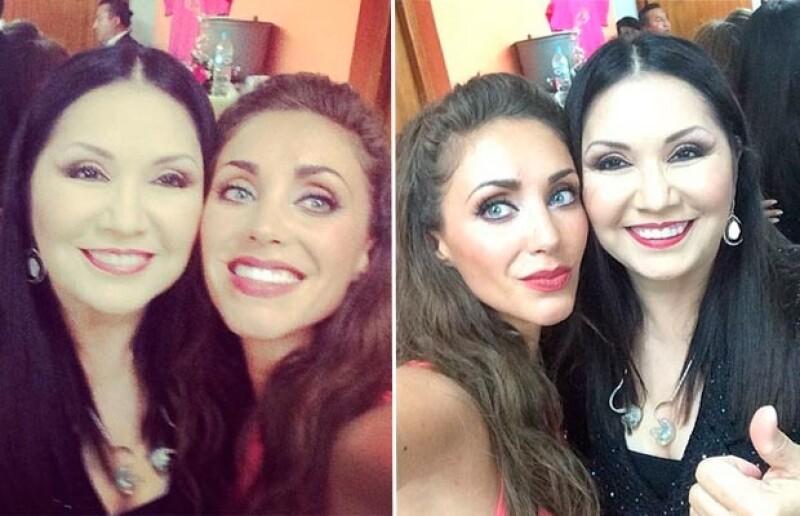 Anahí y Ana Gabriel se fotografiaron juntas y ambas lo presumieron en redes sociales.