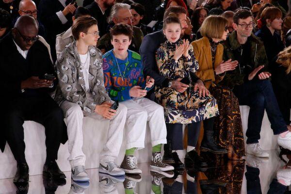 Victoria Beckham show, Front Row, Fall Winter 2020, London Fashion Week, UK - 16 Feb 2020