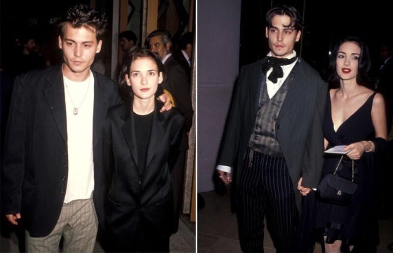 Winona y Johnny fueron novios durante cuatro años.