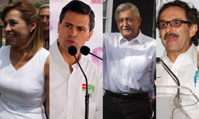 Los candidatos se prepararon este fin de semana para el debate organizado por el IFE. (Foto: Especial)