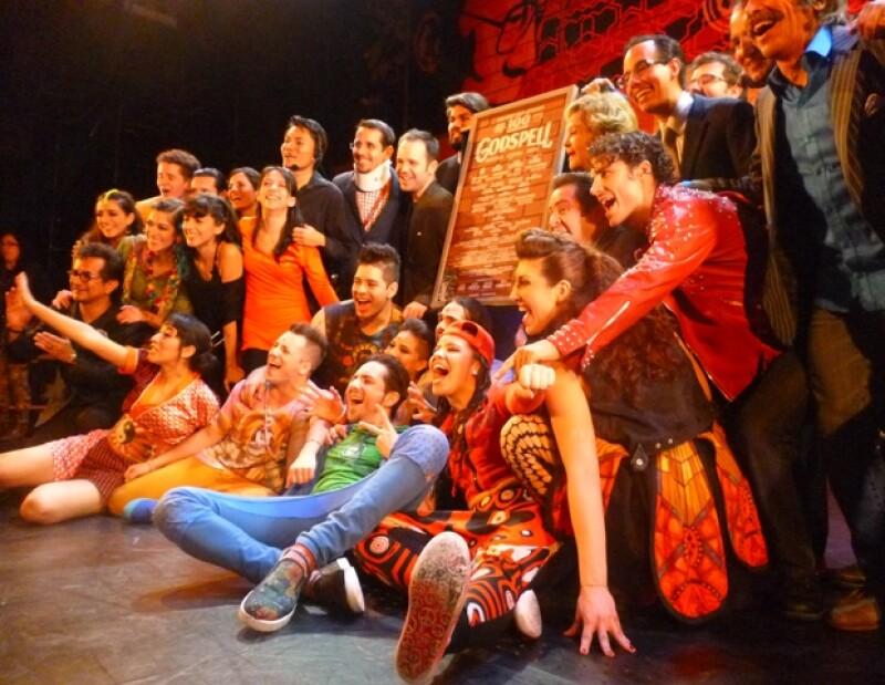 Los actores y cantantes expresaron el crecimiento espiritual que han tenido gracias a la experiencia vivida en el musical que anoche cumplió 100 representaciones.