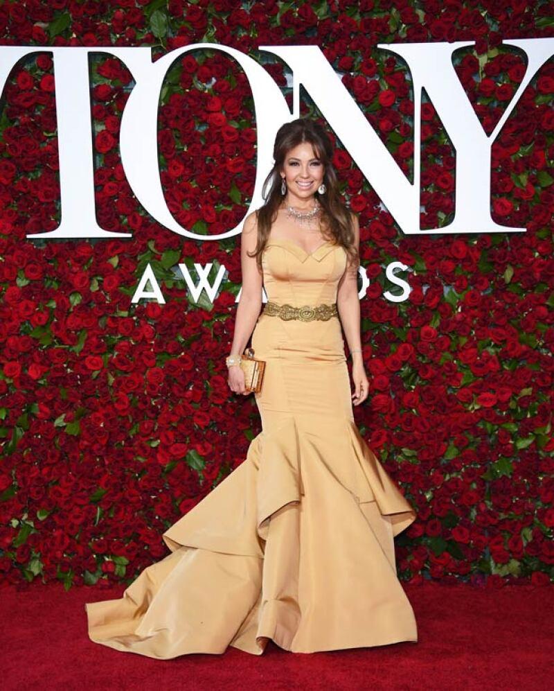La cantante se cambió en el auto justo antes de llegar a la entrega de premios para no arrugar su vestido.