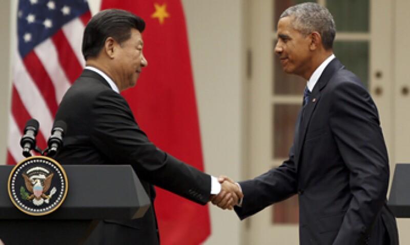 Los mandatarios se reunieron en Washington, durante una visita del presidente chino. (Foto: Reuters)