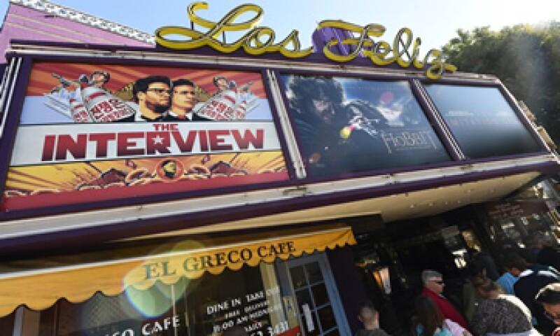 The Interview recaudó en cines 1,8 millones de dólares durante el fin de semana. (Foto: AFP )