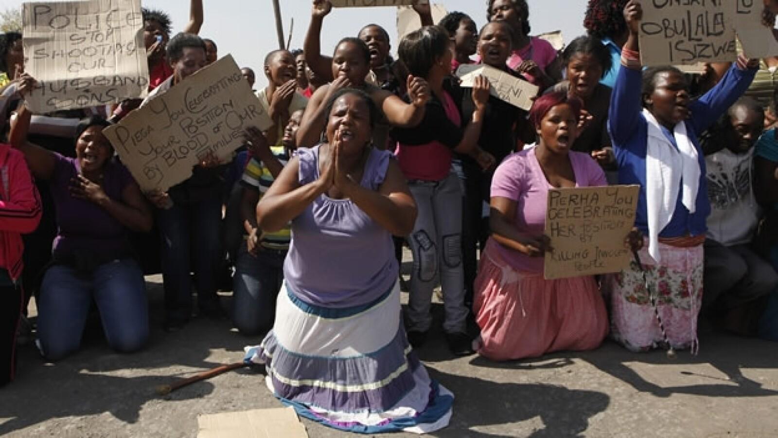 Sudáfrica protestas mineros 2