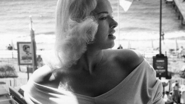 Diana Dors en el festival de 1956.