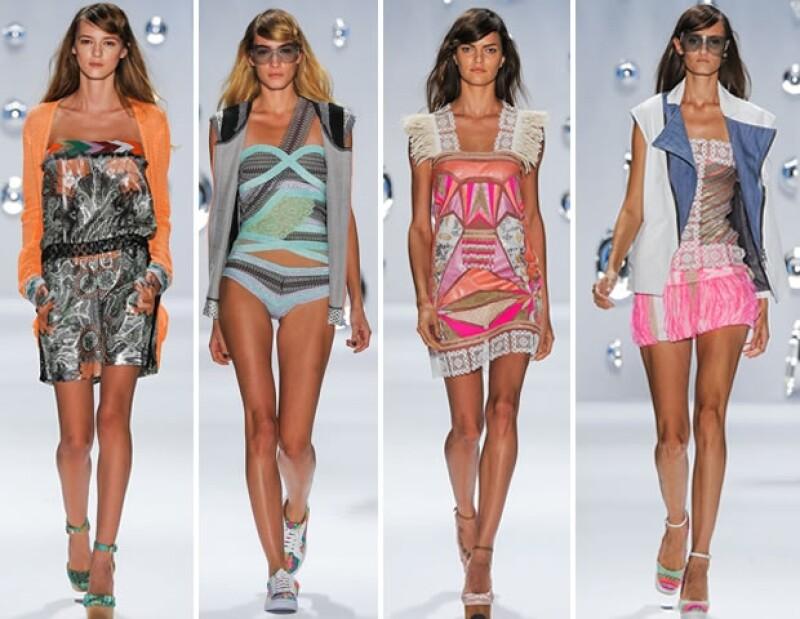 Prendas relajadas, confeccionadas en una mezcla de materiales, formaron parte de la gama X-Ray de la marca catalana presentada en la Semana de la Moda de Nueva York.
