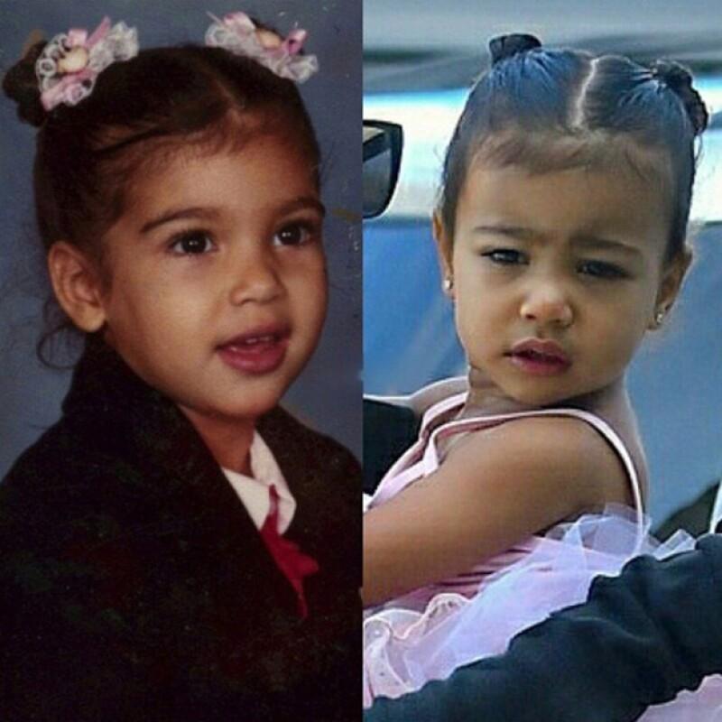La semana pasada la hija de la socialité y Kanye West fue captada en su tutú de ballet, por lo que su mamá publicó una foto con un look muy parecido de cuando tenía la misma edad.