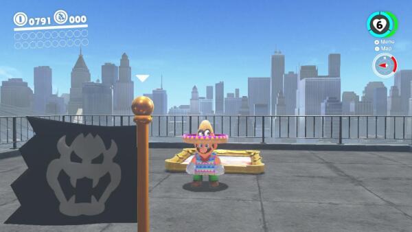 Mario con sombrero y sarape