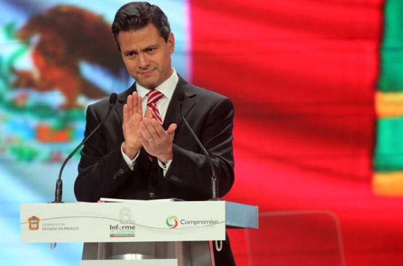 El gobernador mexiquense ofreció su último informe de gobierno.