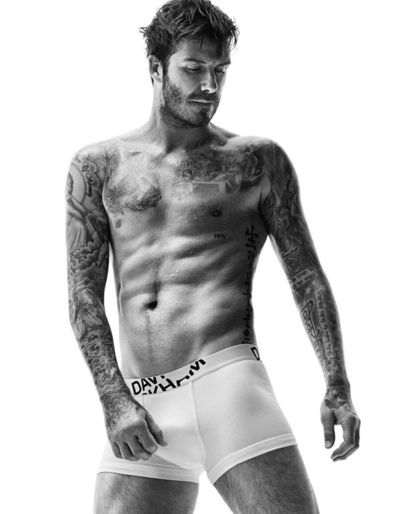 El ex futbolista posó en ropa interior para la nueva campaña de H&M, en la cual no decepcionó al mostrar su bien cuidada figura.
