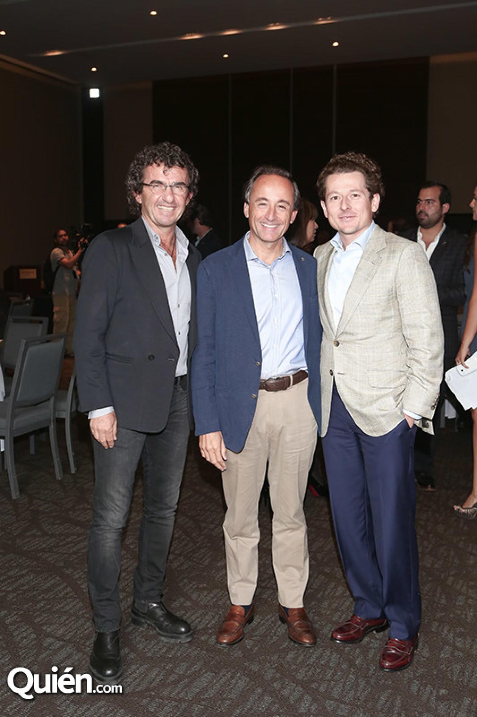 Fredy Helfon,Eduardo Tricio y Francisco González