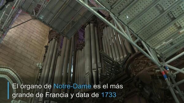 Así inició la restauración del órgano de Notre Dame de París