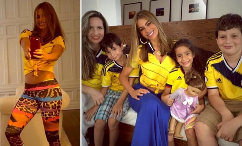 Sofía Vergara apoyó a Colombia, mientras que Gisele Bündchen y Alessandra Ambrosio se prepararon desde temprano para apoyar a su selección en los emocionantes cuartos de final de la Copa del Mundo.