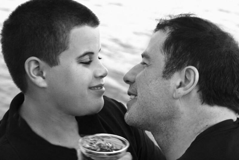 Travolta con su hijo Jett.