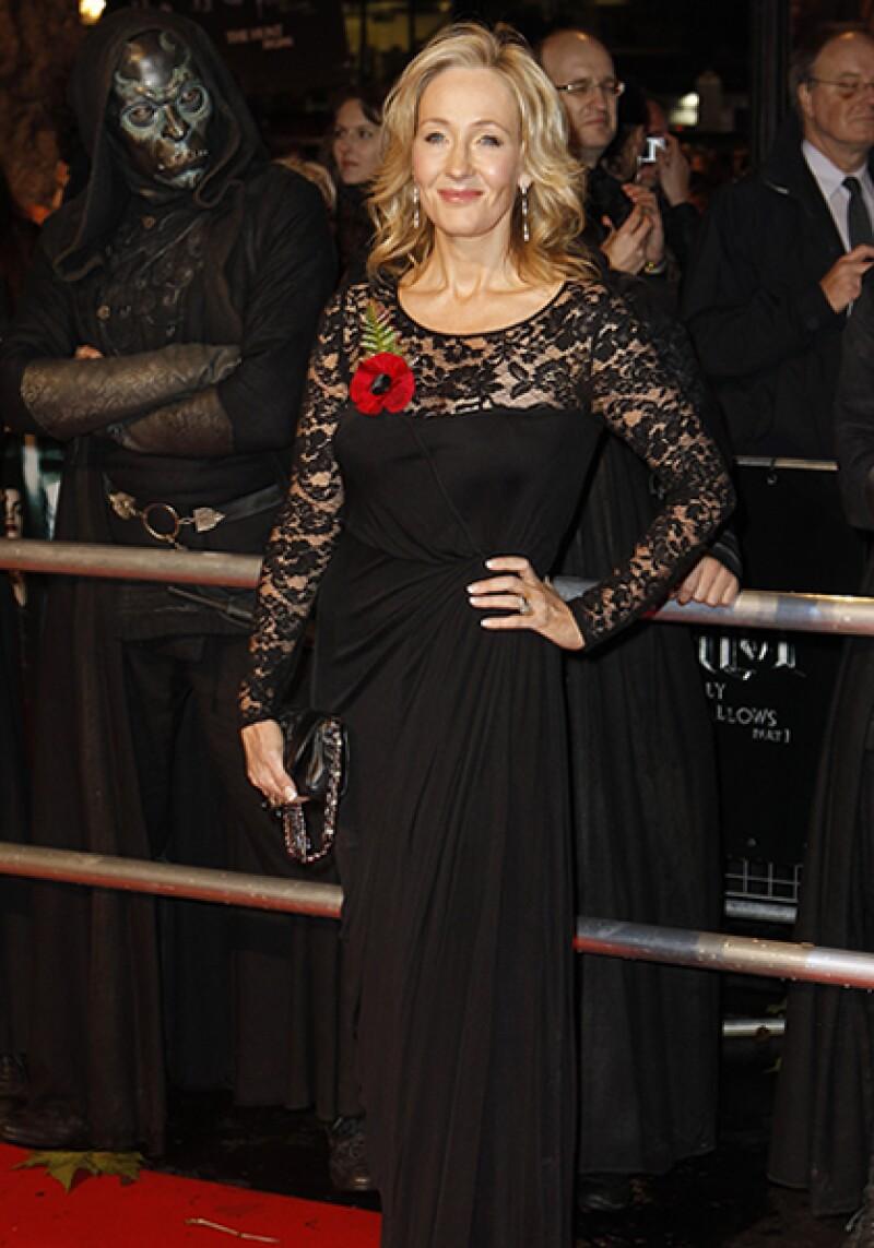 J.K Rowling, autora de la serie de Harry Potter, es una de las mujeres más chic de Gran Bretaña.