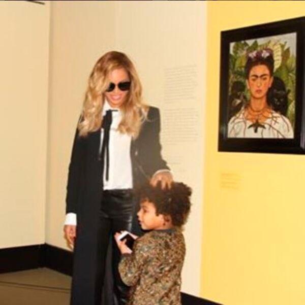 Blue Ivy, de cuatro años, se ha convetido en la acompañante incondicional de Beyoncé.