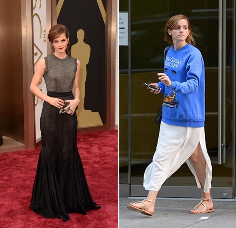 Es indiscutible que Emma Watson se ha convertido en uno de los iconos de moda más importantes en los últimos años. Sin embargo, también se da el lujo de lucir effortless.