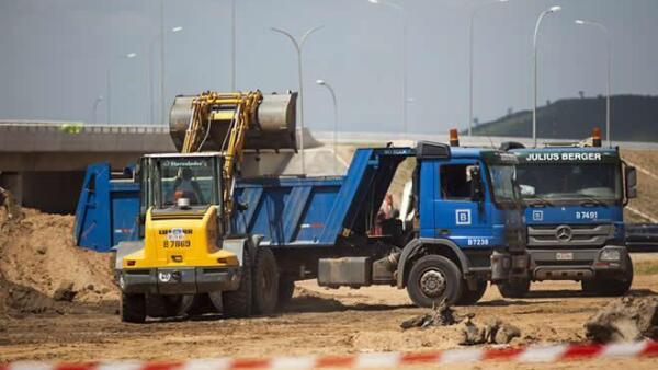 Construcci�n autopista