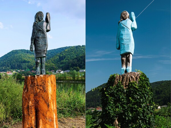 COMBO-FILES-SLOVENIA-US-SCULPTURE-TRUMP-MELANIA-OFFBEAT
