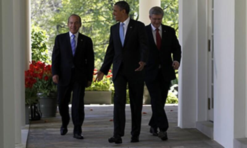 Los líderes de México, EU y Canadá se reunieron este lunes en Washington para darle un impulso a sus acuerdos económico-políticos. (Foto: Reuters)