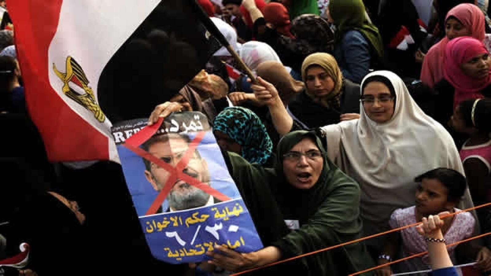 egipcios protestando
