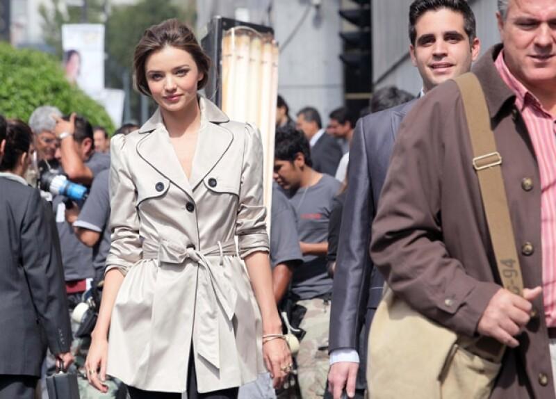 La bella modelo es la imagen del Fashion Fest de Liverpool.