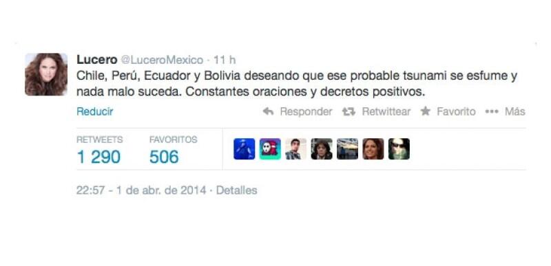 Éste fue el mensaje que hizo que Lucero se convirtiera en trending topic.