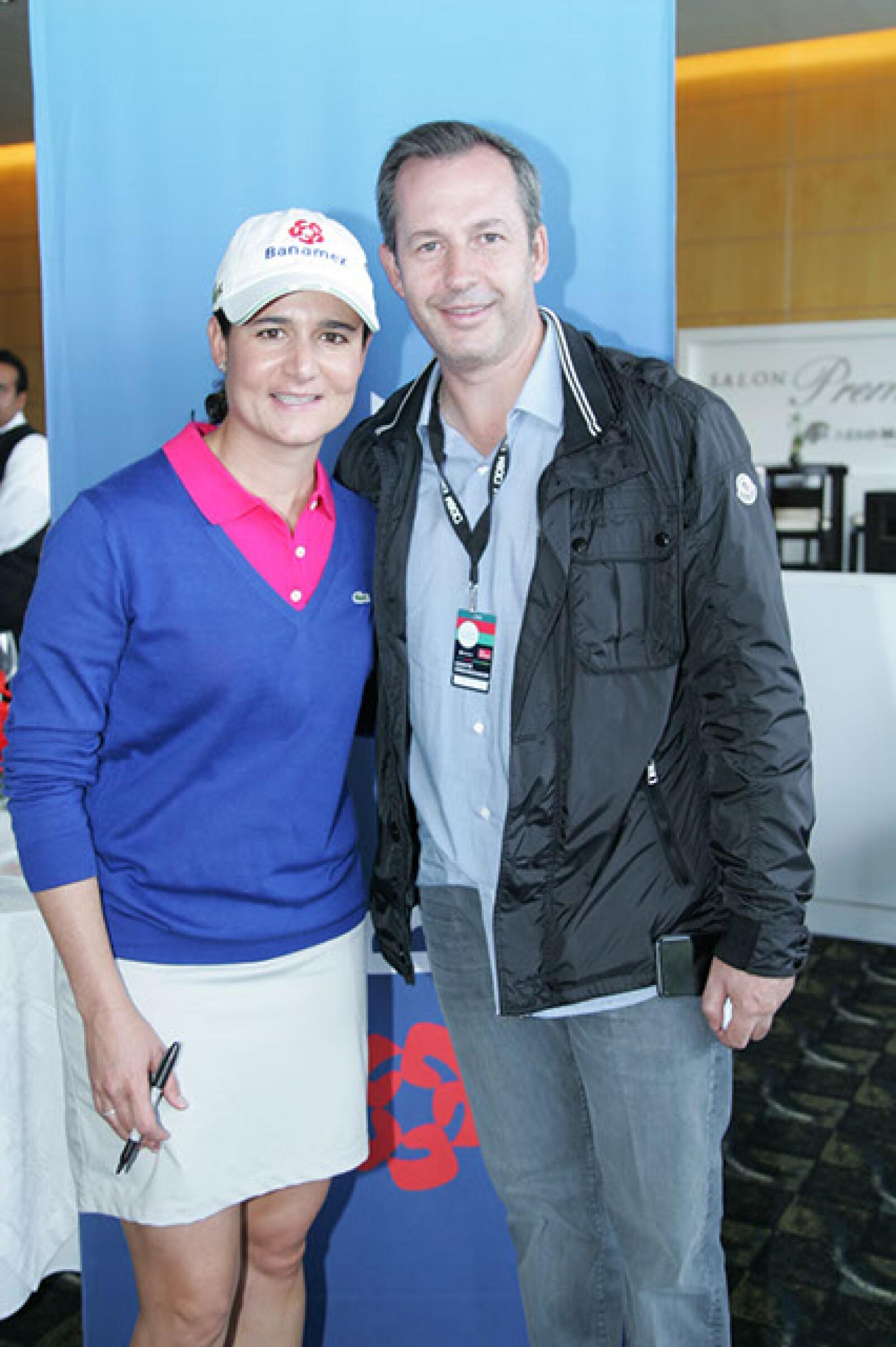 Lorena Ochoa y Andrés Conesa