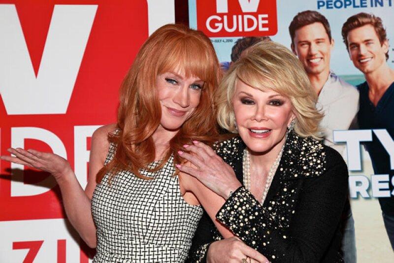 La comediante Kathy Griffin era fan de Joan, cada vez que la veía se lo decía alegremente.