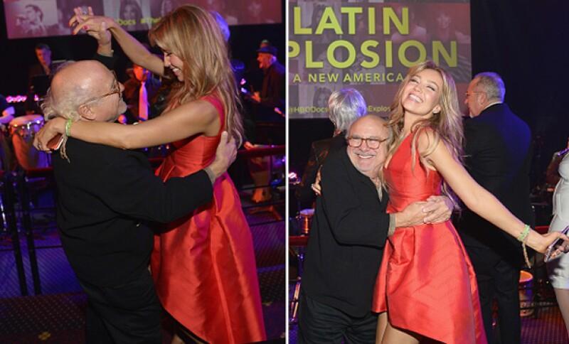 La presentación del documental de Tommy Mottola ha sido el pretexto perfecto para que la guapa mexicana y el actor muestren sus mejores pasos de baile.