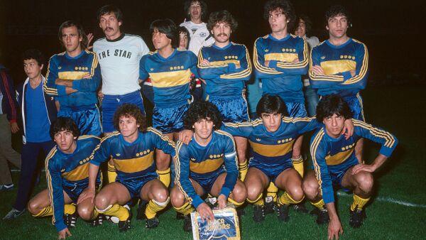 Diego Armando Maradona con Boca Juniors