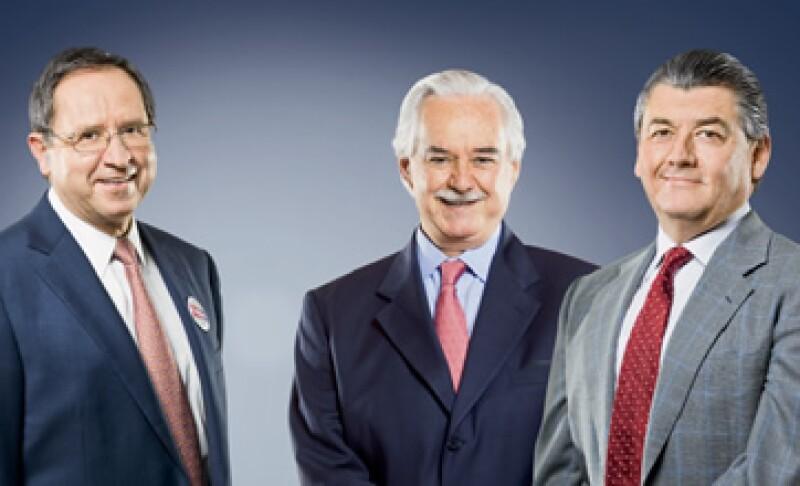 Salvador Alva, Lorenzo Zambrano y José Antonio Fernández (Foto: Mondaphoto)