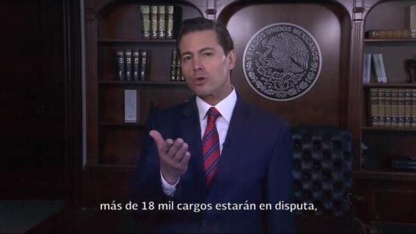 """Enrique Peña Nieto """"anticipa jornada electoral ordenada y participativa"""" pero la"""