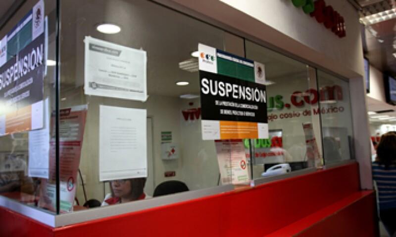 La semana pasada la Profeco puso sellos de suspensión en el módulo de la firma hallado en el AICM. (Foto: Notimex)