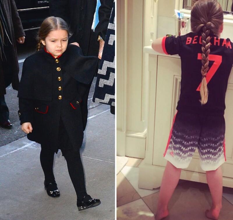 Harper suele inspirarse en los looks de su padre, David Beckham.