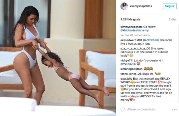 Kim y sus hijos se han divertido en grande en Punta Mita.