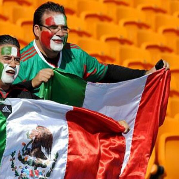 aficionados mexicanos en Sudáfrica