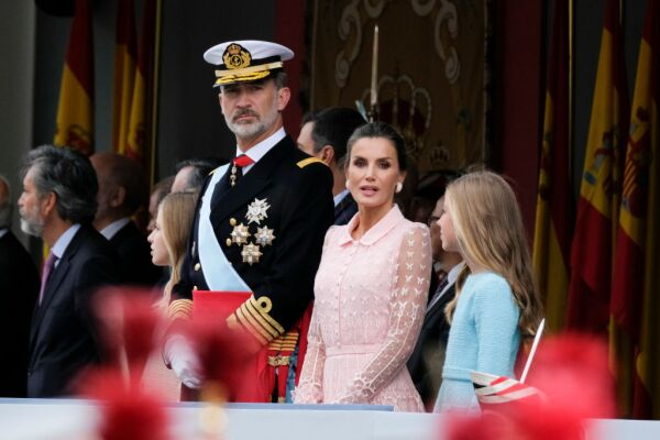 Spanish Royals Attend The National Day Military Parade