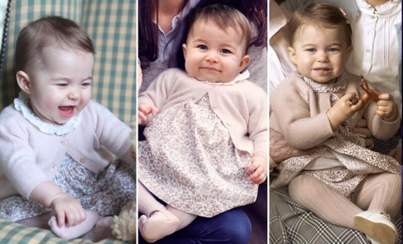 En los retratos oficiales en los que ha aparecido la princesa Charlotte, la pequeña ha usado el mismo vestido y suéter.