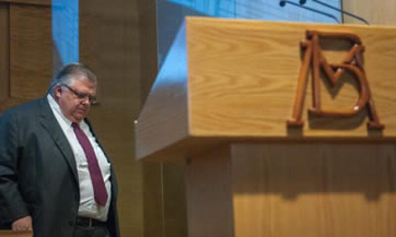 El gobernador del Banxico, Agustín Carstens, destacó la incertidumbre financiera internacional. (Foto: Cuartoscuro)