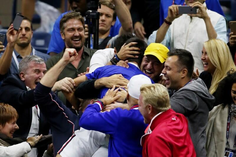 """El tenista venció a Federer en la final del US Open este lunes y, tras su triunfo, festejó efusivamente con el actor de """"300"""", película en la que se hizo famosa esta exclamación."""