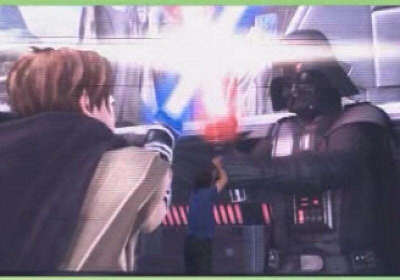 Durante la presentación, hubo un videojuego que simuló una batalla de la película la Guerra de las Galaxias (Foto: Tomada de xbox.com)