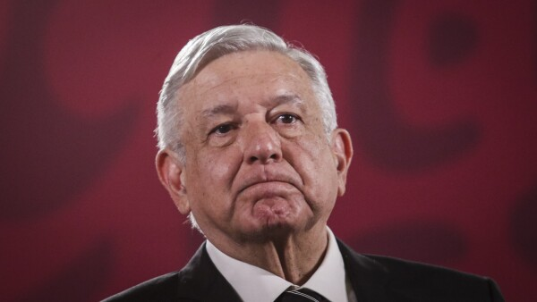Andrés Manuel López Obrador, presidente de México, durante la conferencia de prensa matutina.