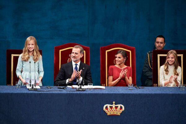Princesa Leonor, rey Felipe VI, Letizia de España y la infanta Sofía
