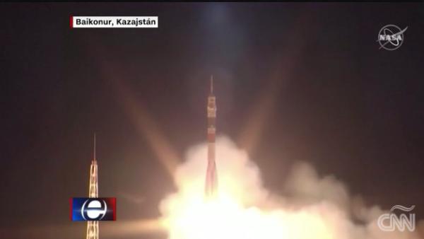 Así fue el lanzamiento de la cápsula Soyuz hacia la EEI
