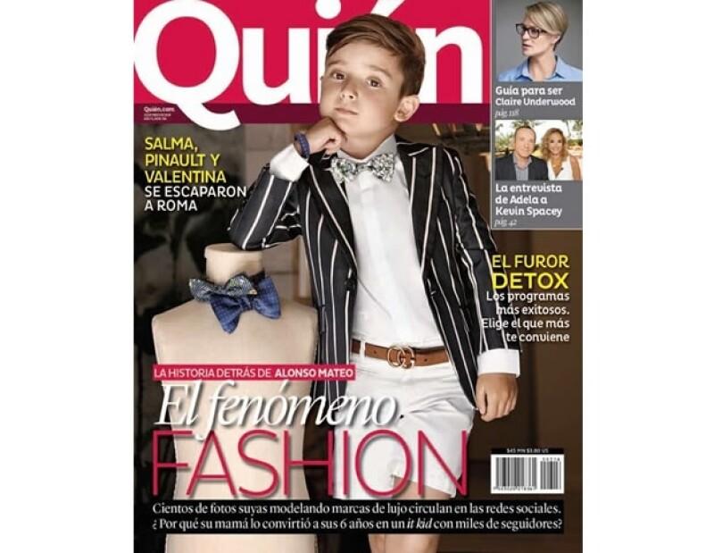 Mateo ha acaparado todas las miradas en Instagram y fue portada de la revista Quién este mes de mayo.