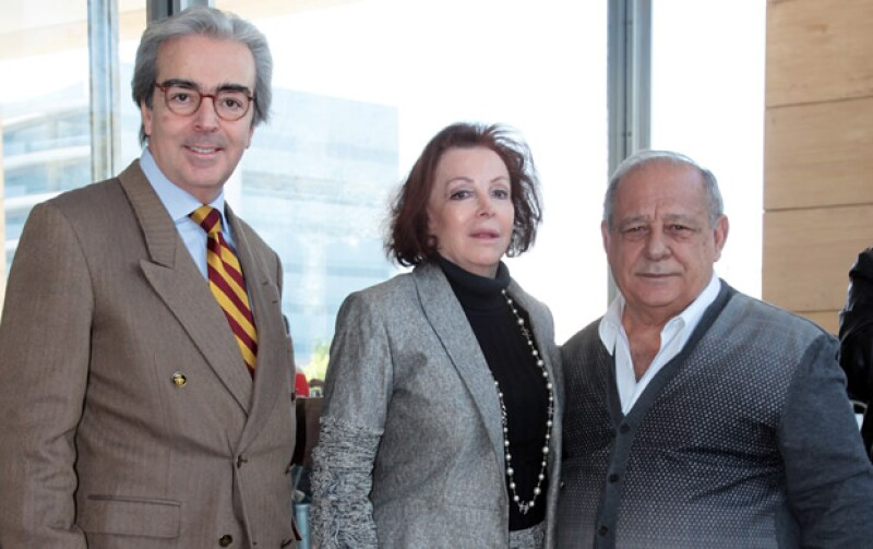 Lorenzo Lazo, María Luisa Serna y Sami Hayek.